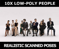 10x LOW POLY ELEGANT CASUAL PEOPLE AUDIENCE VOL01 CROWD