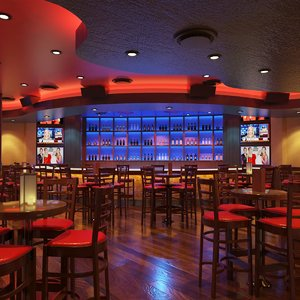 bar night club scene 3D model