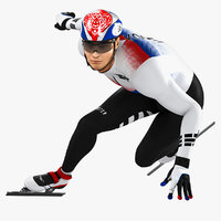 3D animations speed skater model