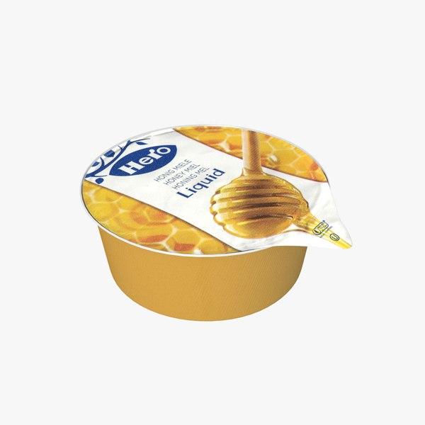 3D realistic honey pan