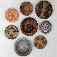 3D set african baskets wall model