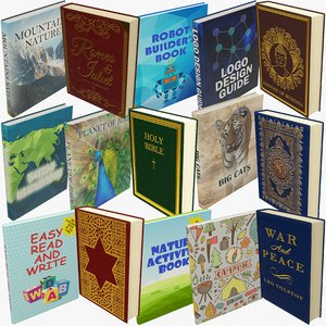 books sets 3D model