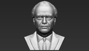 3D jack nicholson bust ready model