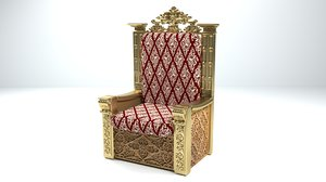 king throne 3D model