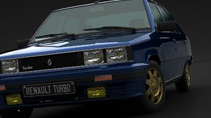 3D model renault 9 turbo