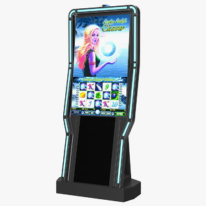casino slot machine display 3D model