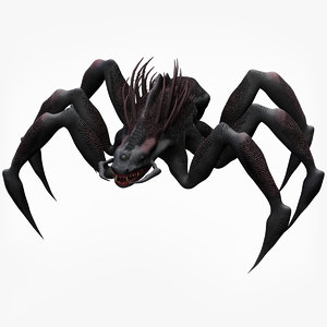 3D spider monster