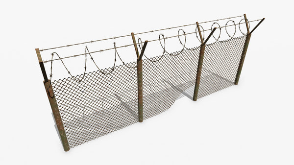 3D barbed wire fence pbr