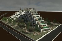 revit residential complex 3D model