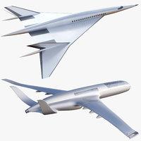 Future Concept Plane Pack Airbus Boeing 2050