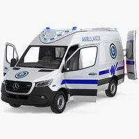 mercedes benz sprinter ambulance 3D