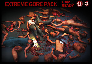 3D mutilated corpses packed