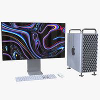 3D mac pro 2019 model