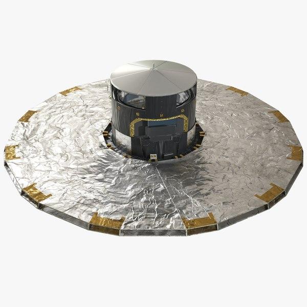 3D gaia space observatory esa model