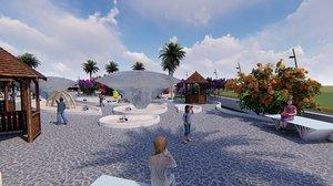 3D revit children playground