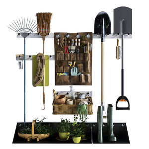 garden storage decoration 3D