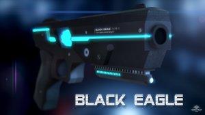 3D black eagle