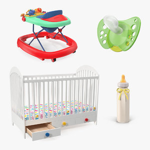 3D childcare products child model