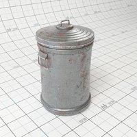 metal trash 3D model
