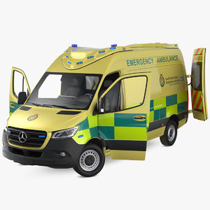 mercedes benz sprinter emergency 3D model