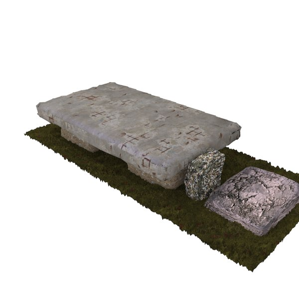 3D model used stone bench