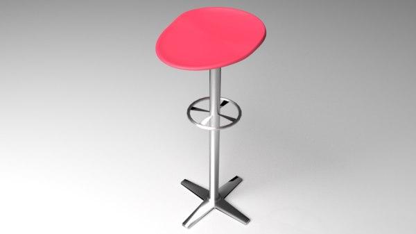 3D backstool stool