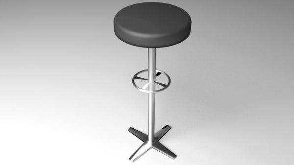 3D barstool bar model