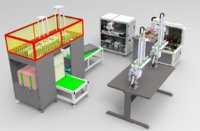 3D loading unloading machine assembly