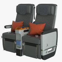 3D premium economy airplane seat