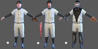 3D pack baseball players batter