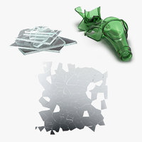 broken glass 3D model