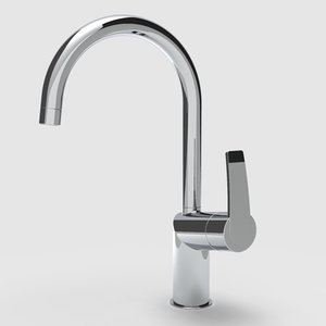 3D faucet tap sink model