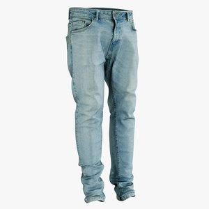 3D realistic jeans blue
