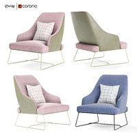 3D blazer bonaldo armchair model