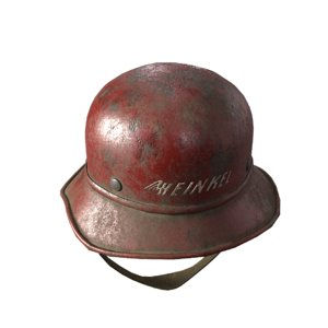 german ww helmet 3D