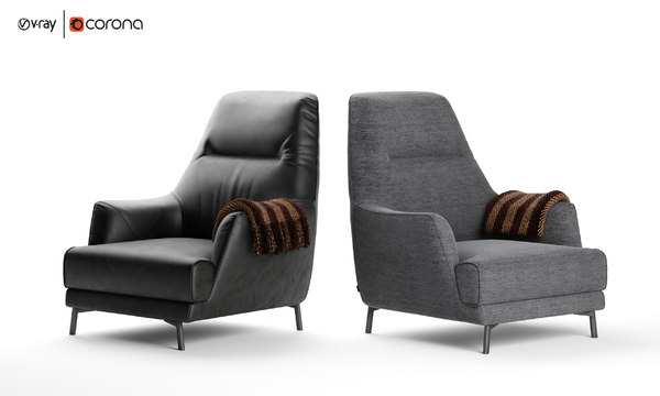 leyra armchair natuzzi italia 3D model