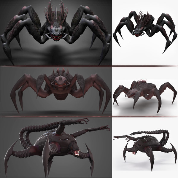 monsters spider 3D model