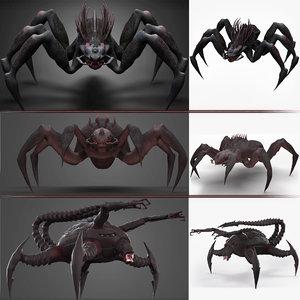 monsters spider 3D model