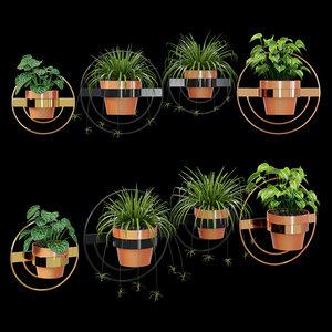 3D wall planters pots