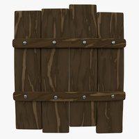 3D wooden shield