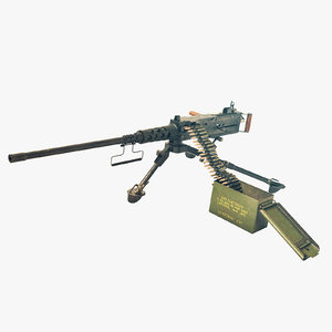ready m2 browning machine gun 3D