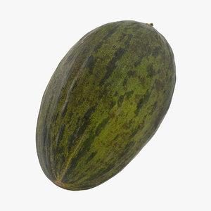 3D melon fruit food model