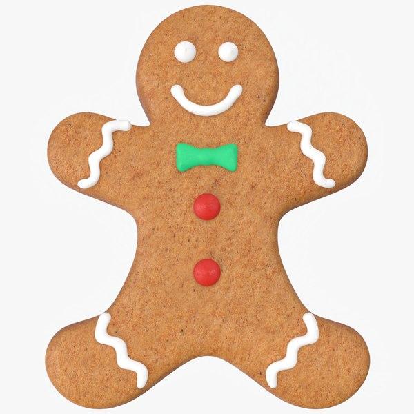 christmas gingerbread man cookie 3D model