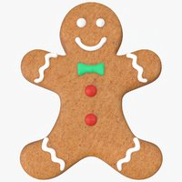 christmas gingerbread man cookie 3D model