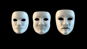 white masks 3D model