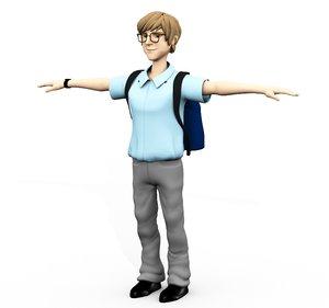 nerdy nerd school kid model