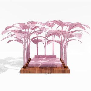 3D refuge outdoor bed model