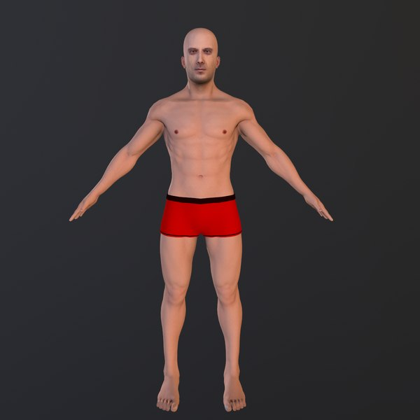 3D male body character human model