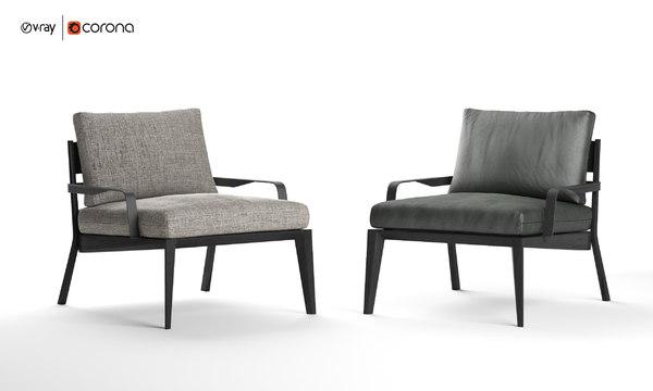 viaggio armchair natuzzi italia 3D model
