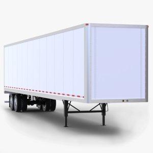 3D 53ft dry van semi-trailer